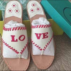 Jack Rogers LO-VE Sandals Rare Exclusive Love 💖